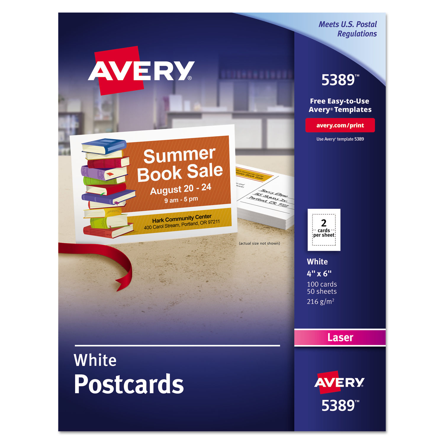 templates take out box postcards 4 per sheet wide avery.html