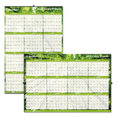 Blueline® Yearly Laminated Wall Calendar Thumbnail