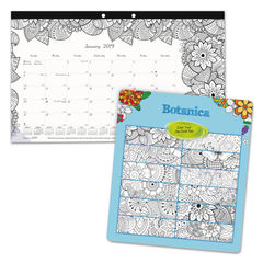 Blueline® Monthly Desk Pad Calendar with Coloring Pages Thumbnail