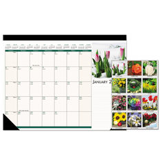 House of Doolittle™ Earthscapes™ 100% Recycled Floral Monthly Desk Pad Calendar Thumbnail