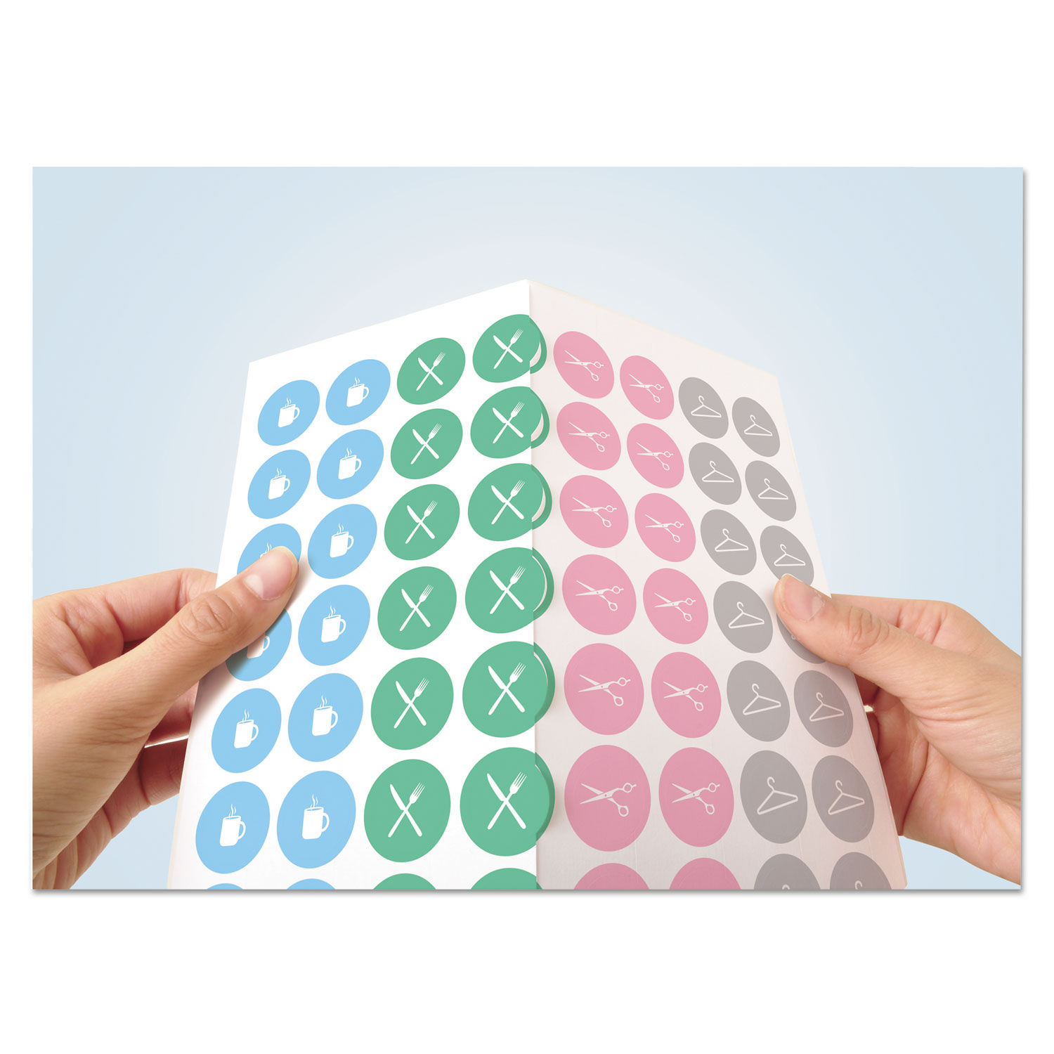 graphic relating to Printable Round Labels named Printable Self-Adhesive Long lasting 3/4\