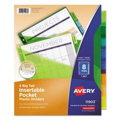 Avery® Insertable Big Tab™ Plastic Pocket Dividers Thumbnail