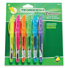 Ticonderoga® Emphasis™ Pocket Style Highlighters Thumbnail