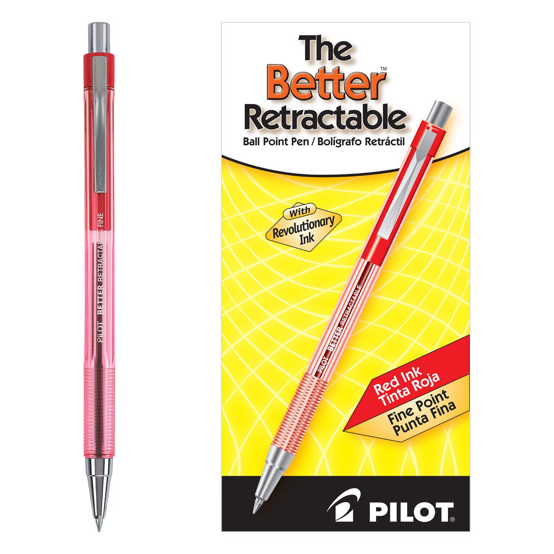 Easytouch Retractable Fine Ballpoint Pen Open Stock-Black 8 pens