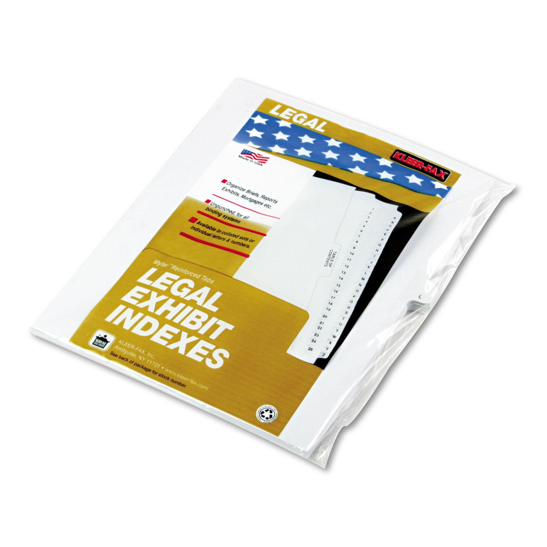 90000 Series Alpha Side Tab Legal Index Divider, Preprinted