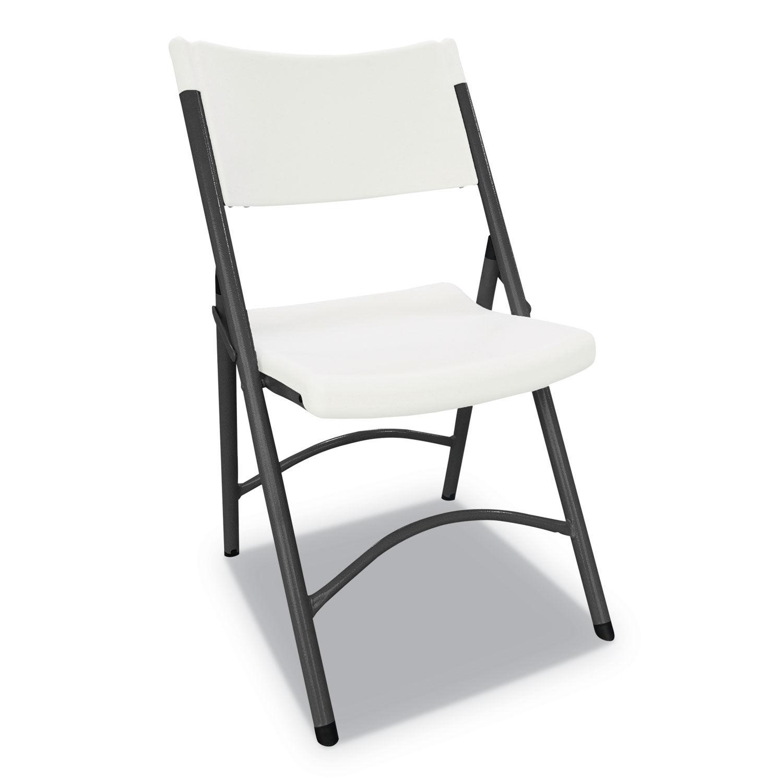 Wondrous Premium Molded Resin Folding Chair 18 1 2 X 20 1 2 X 33 3 8 White Creativecarmelina Interior Chair Design Creativecarmelinacom