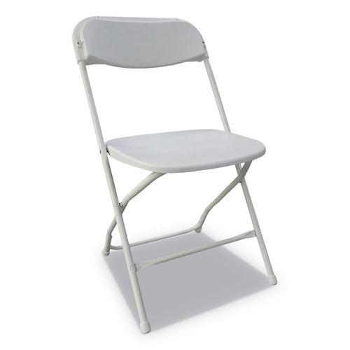 Fine Economy Resin Folding Chair White Seat White Back White Base 4 Carton Theyellowbook Wood Chair Design Ideas Theyellowbookinfo