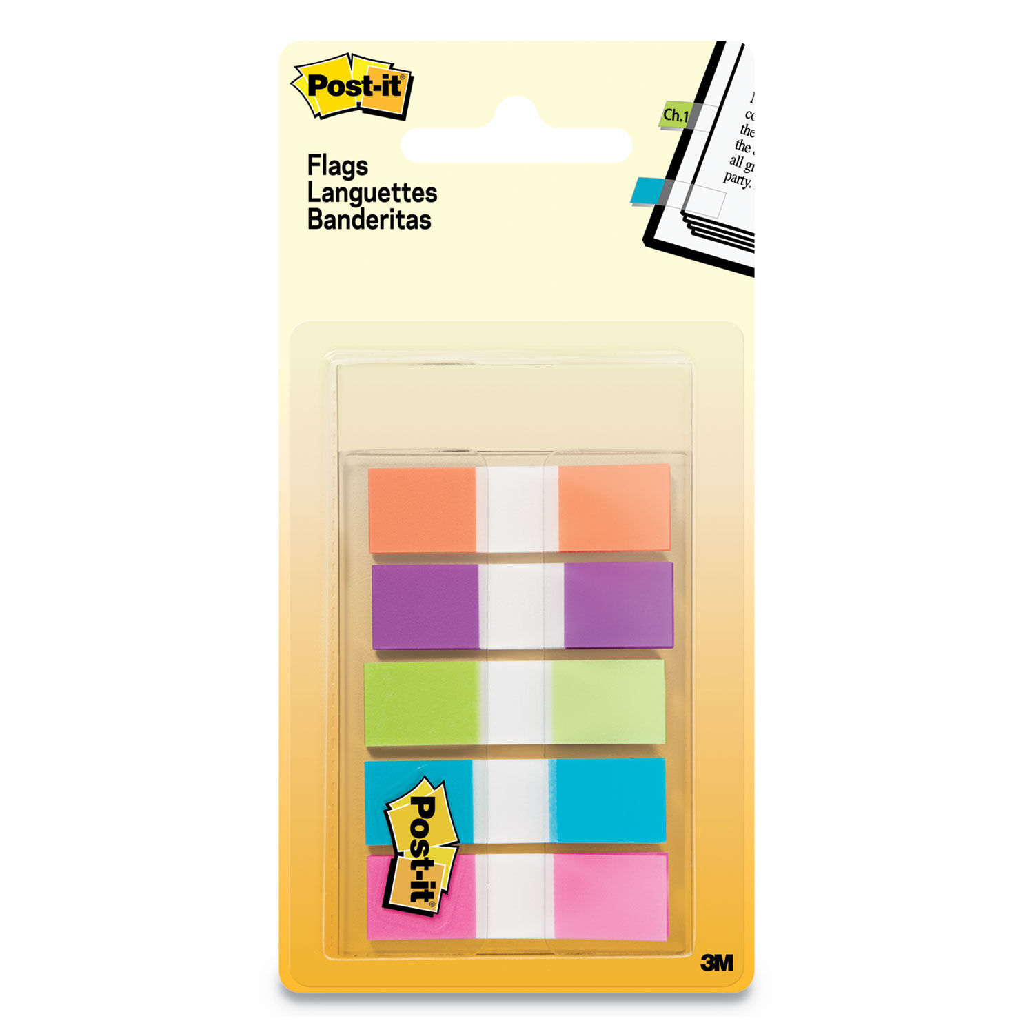 Standard Colors 5 Dispensers of 20 Flags//Color Flags in Portable Dispensers