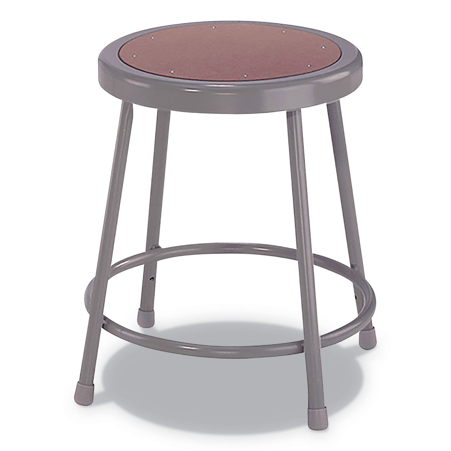 Fabulous Industrial Metal Shop Stool 18 Seat Height Supports Up To 300 Lbs Brown Seat Gray Back Gray Base Frankydiablos Diy Chair Ideas Frankydiabloscom