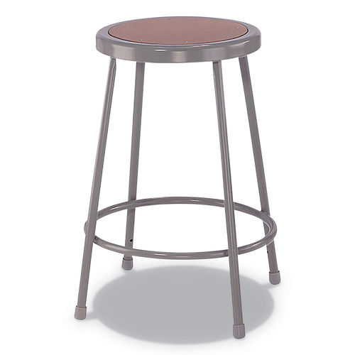Super Industrial Metal Shop Stool 24 Seat Height Supports Up To 300 Lbs Brown Seat Gray Back Gray Base Caraccident5 Cool Chair Designs And Ideas Caraccident5Info