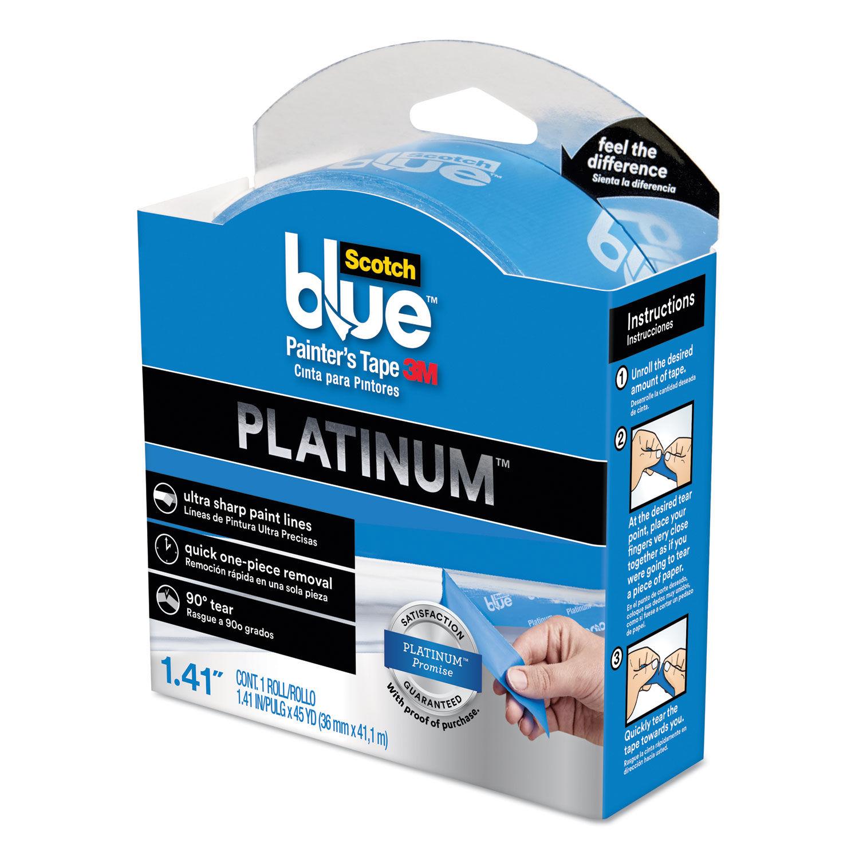 Scotchblue Platinum Painter S Tape 1 41 X 45 Yd 3 Core Blue