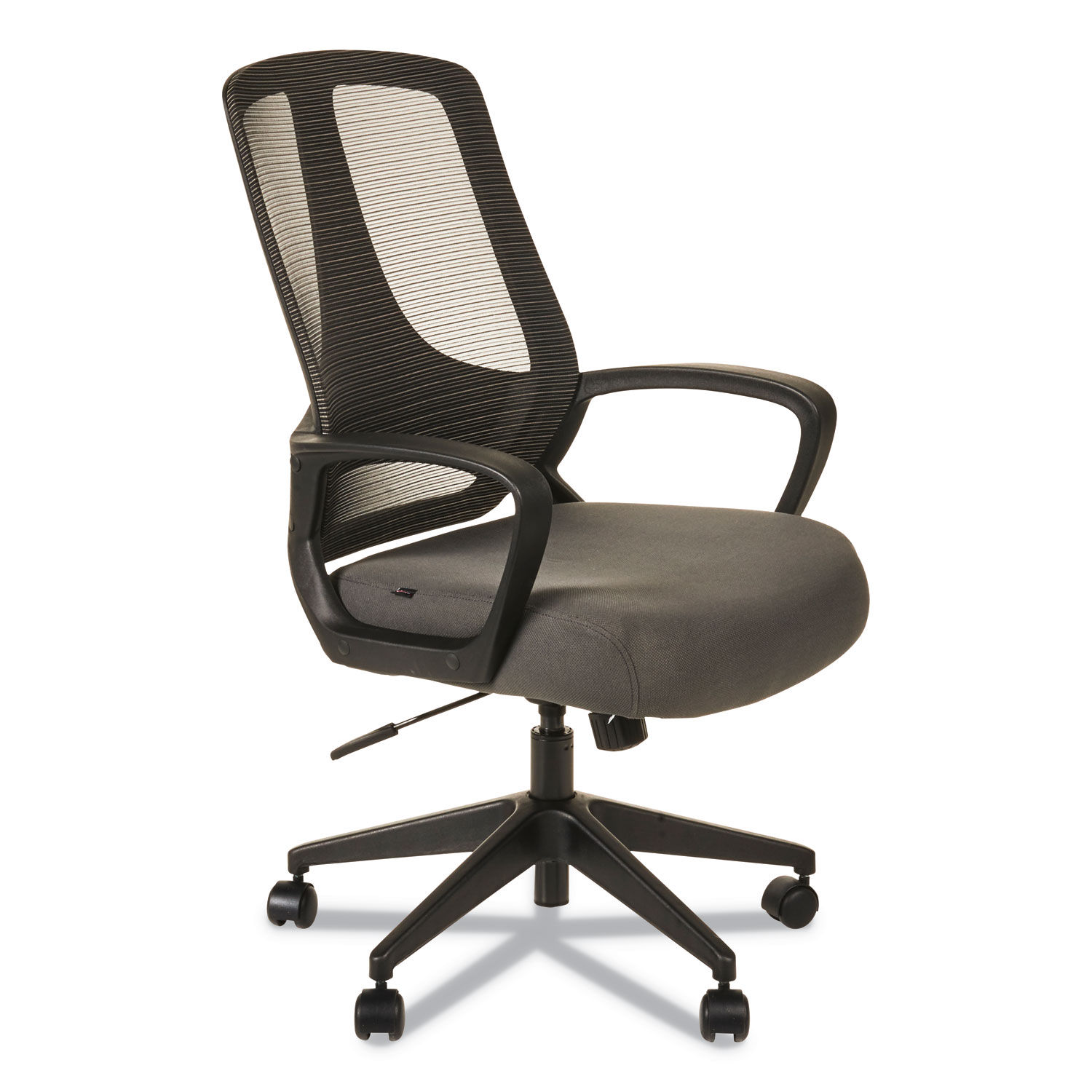 Alera Mb Series Mesh Mid Back Office Chair Supports Up To 275 Lbs Gray Seat Black Back Black Base