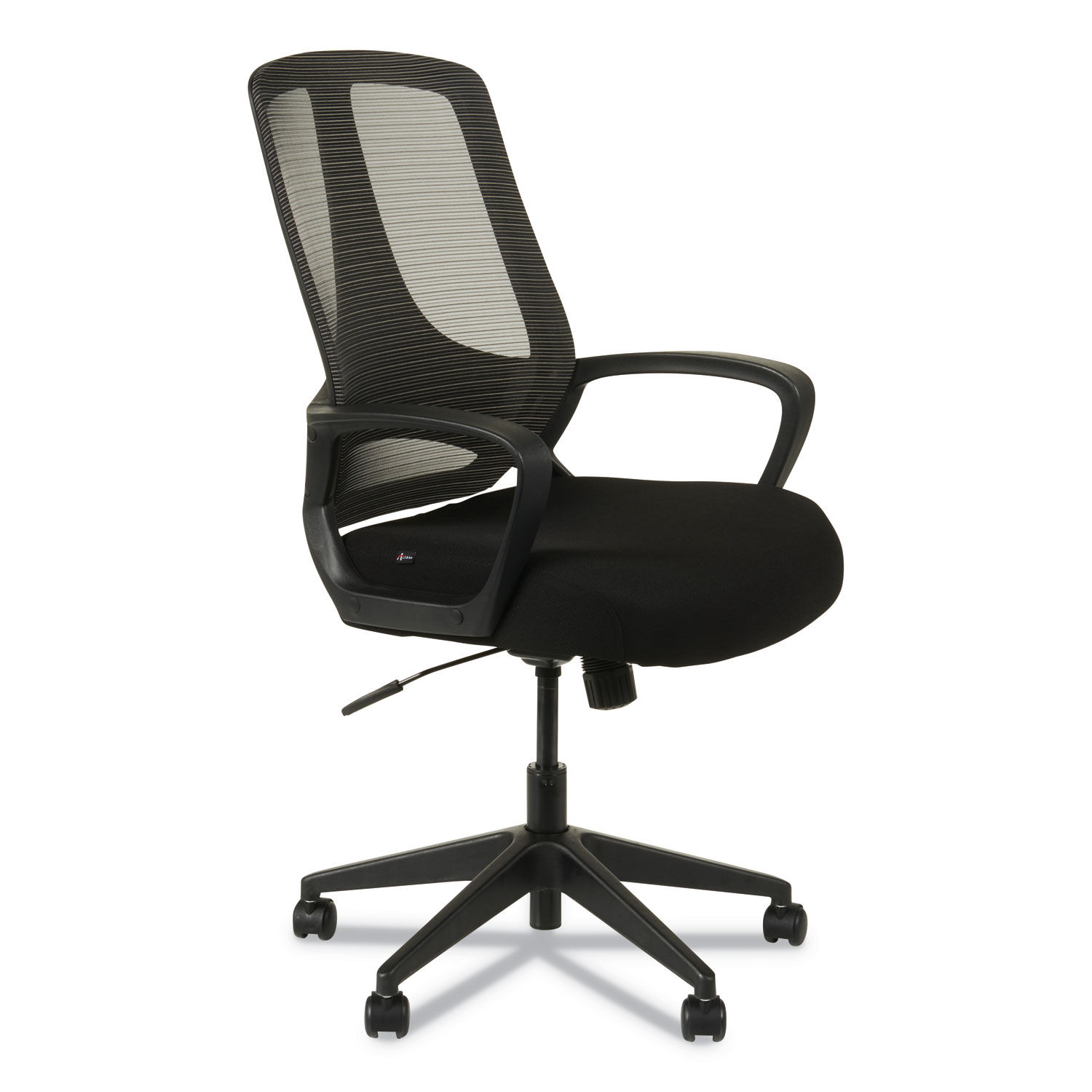 Alera Mb Series Mesh Mid Back Office Chair Supports Up To 275 Lbs Black Seat Black Back Black Base