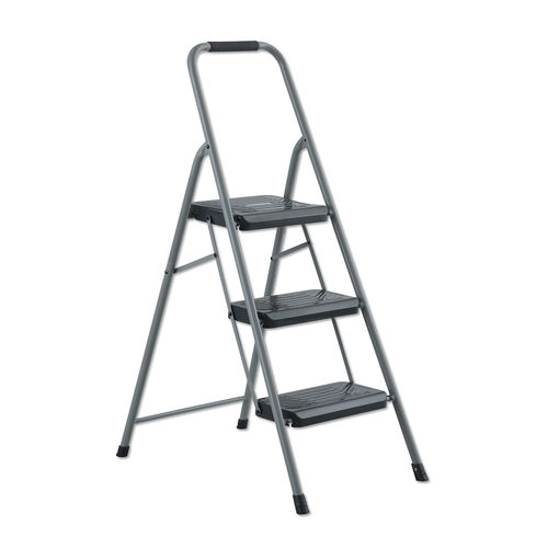 Cool Black And Decker Steel Step Stool Three Step 200 Lb Cap Gray Gmtry Best Dining Table And Chair Ideas Images Gmtryco