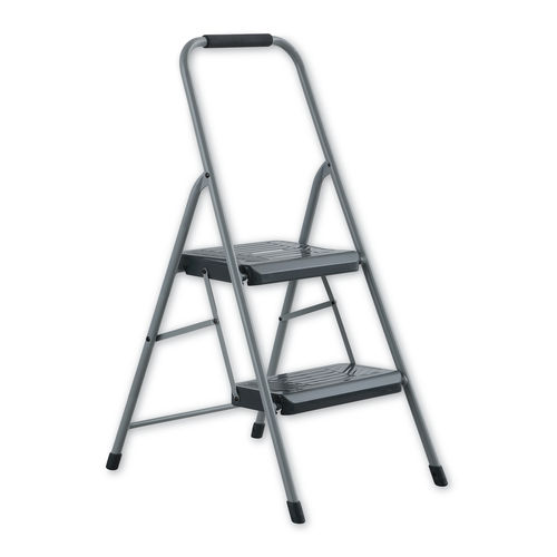 Prime Black And Decker Steel Step Stool Two Step 200 Lb Cap Gray Machost Co Dining Chair Design Ideas Machostcouk