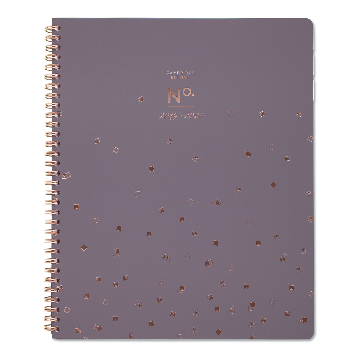 White//Black//Brown 2019-2020 Monthly Planner Calendar in Protective Sleeve for 3-Ring Binder