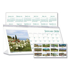 House of Doolittle™ Earthscapes™ 100% Recycled Garden Desk Tent Monthly Calendar with Photos Thumbnail