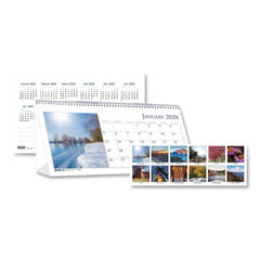 House of Doolittle™ Earthscapes™ 100% Recycled Scenic Desk Tent Monthly Calendar with Photos Thumbnail