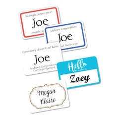 Avery® Flexible Adhesive Name Badge Labels Thumbnail