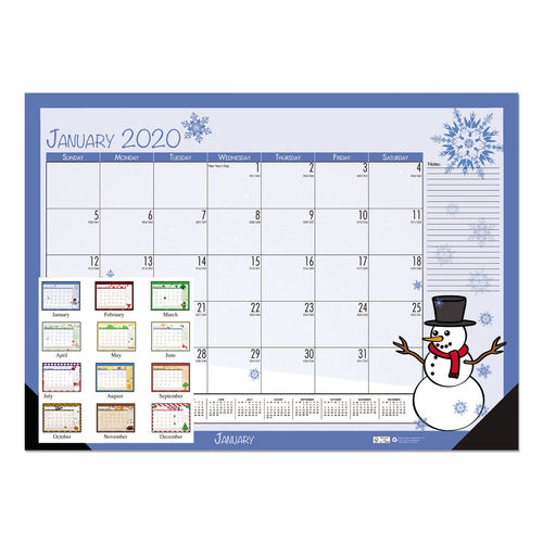 Home For The Holidays 2020.Earthscapes Seasonal Desk Pad Calendar 22 X 17 Illustrated Holiday 2020