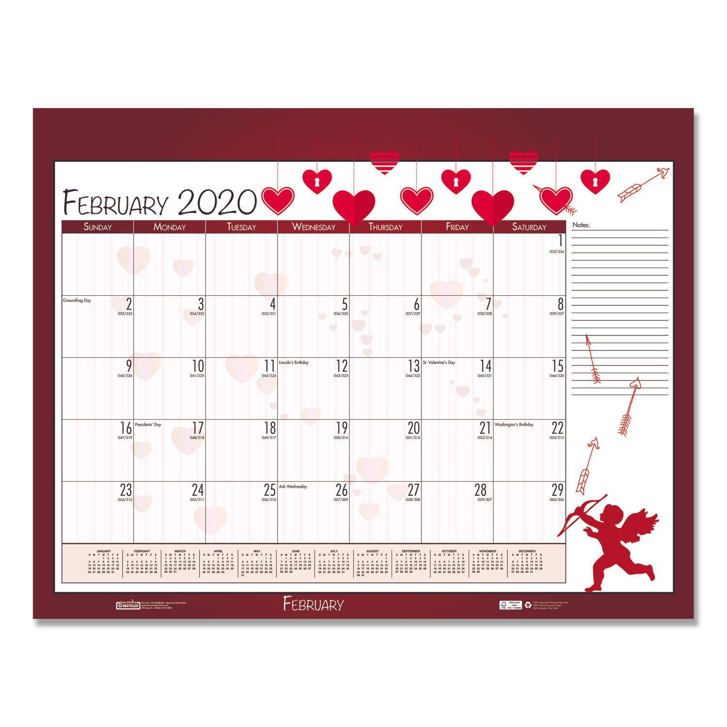 Earthscapes Seasonal Desk Pad Calendar By House Of