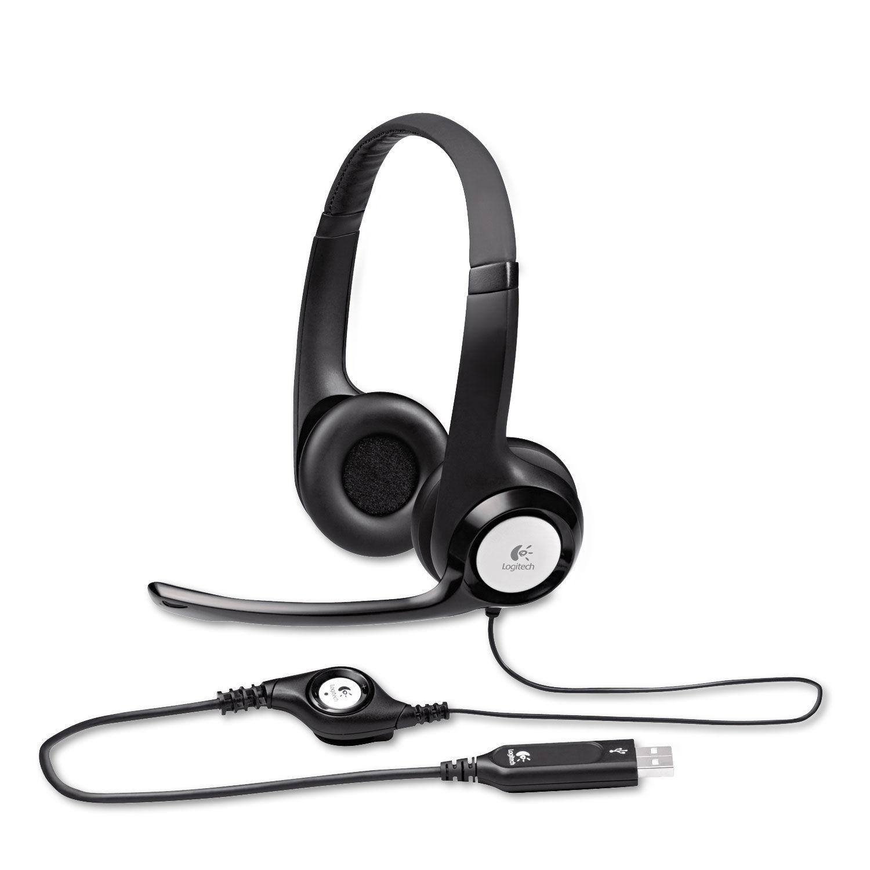 H390 Usb Headset W Noise Canceling Microphone By Logitech Log981000014 Ontimesupplies Com