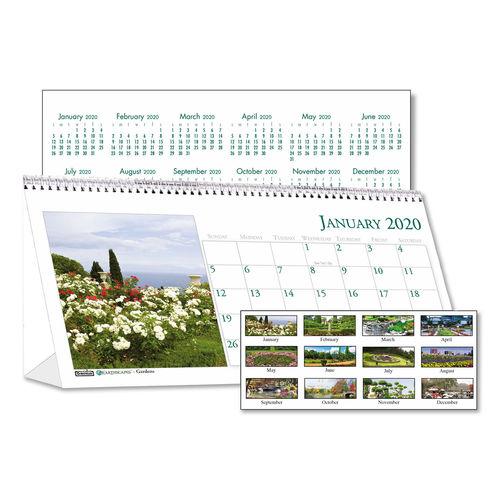Recycled Garden Photos Desk Tent Monthly Calendar by House ...