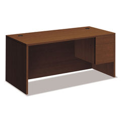 "HON® 10500 Series™ ""L"" Workstation Single Pedestal Desk with 3/4 Height Pedestal Thumbnail"