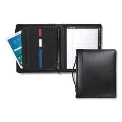 Samsill® Regal™ Leather Zipper Binder with Handle & iPad® Pocket Thumbnail
