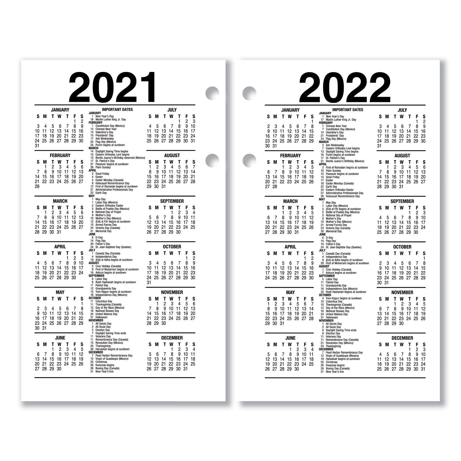 Recycled Desk Calendar Refill by AT-A-GLANCE® AAGE717R50