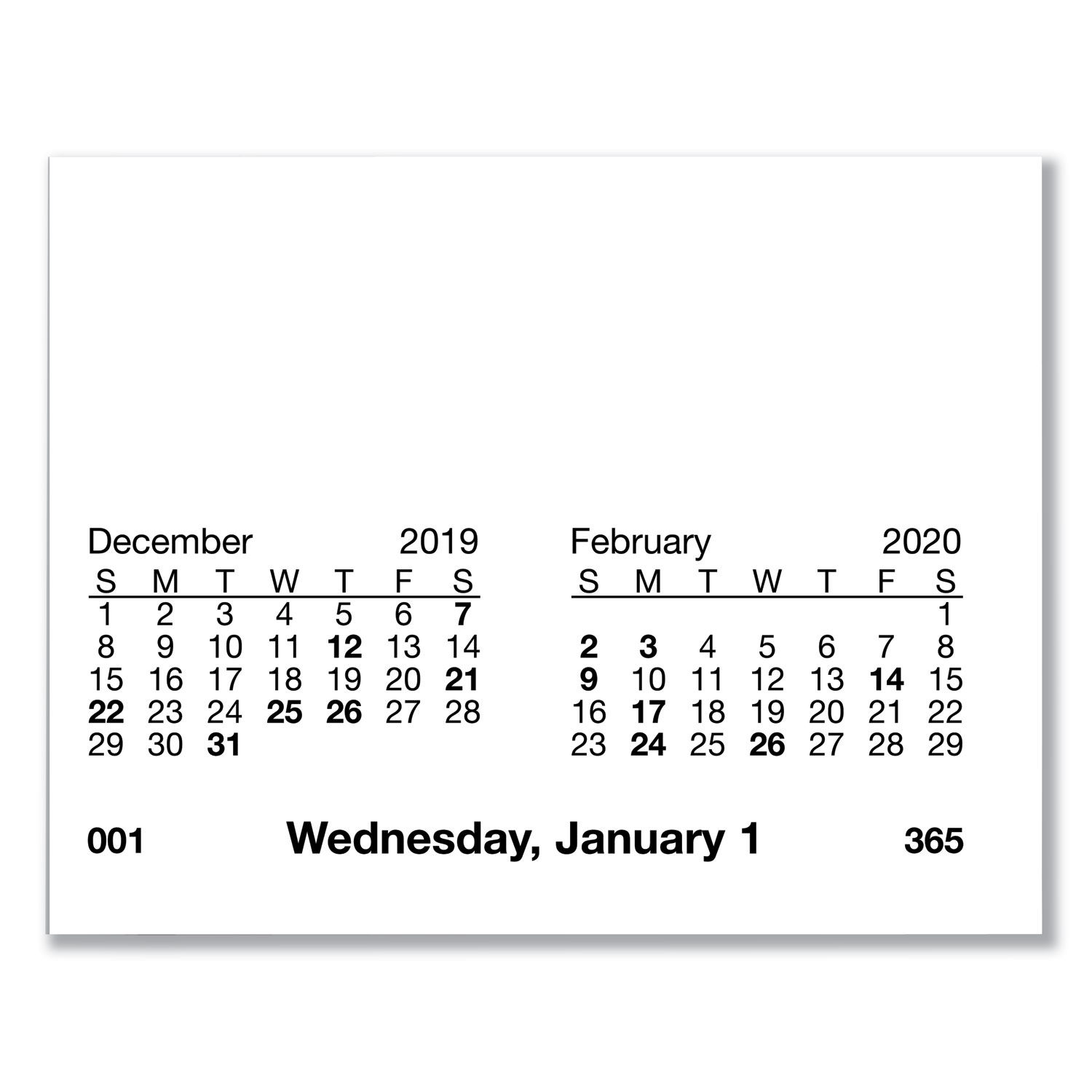 Desk Calendar Refill with Tabs by AT-A-GLANCE® AAGE717T50