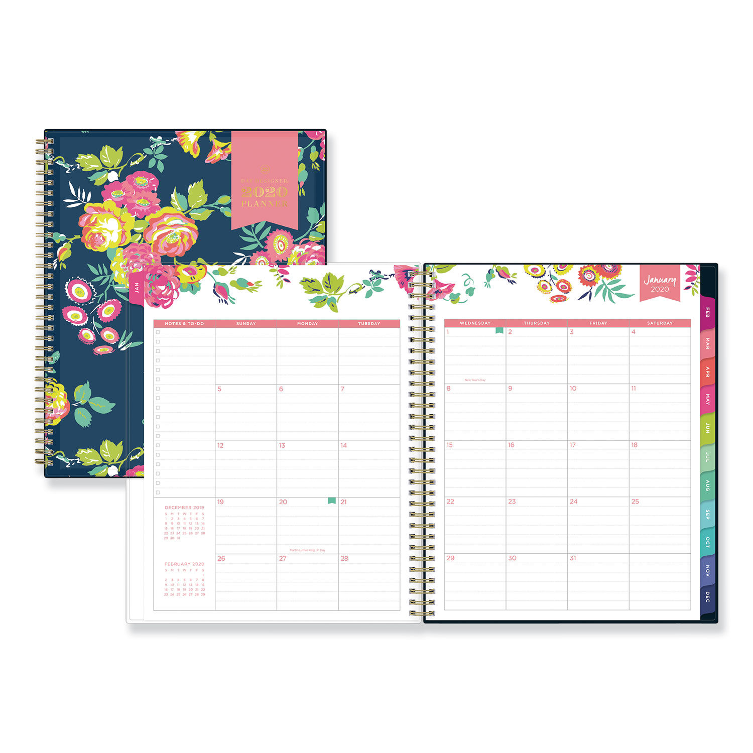 picture relating to Day Designer for Blue Sky called Working day Designer CYO Weekly/Regular monthly Planner, 11 x 8 1/2, Armed forces/Floral, 2020