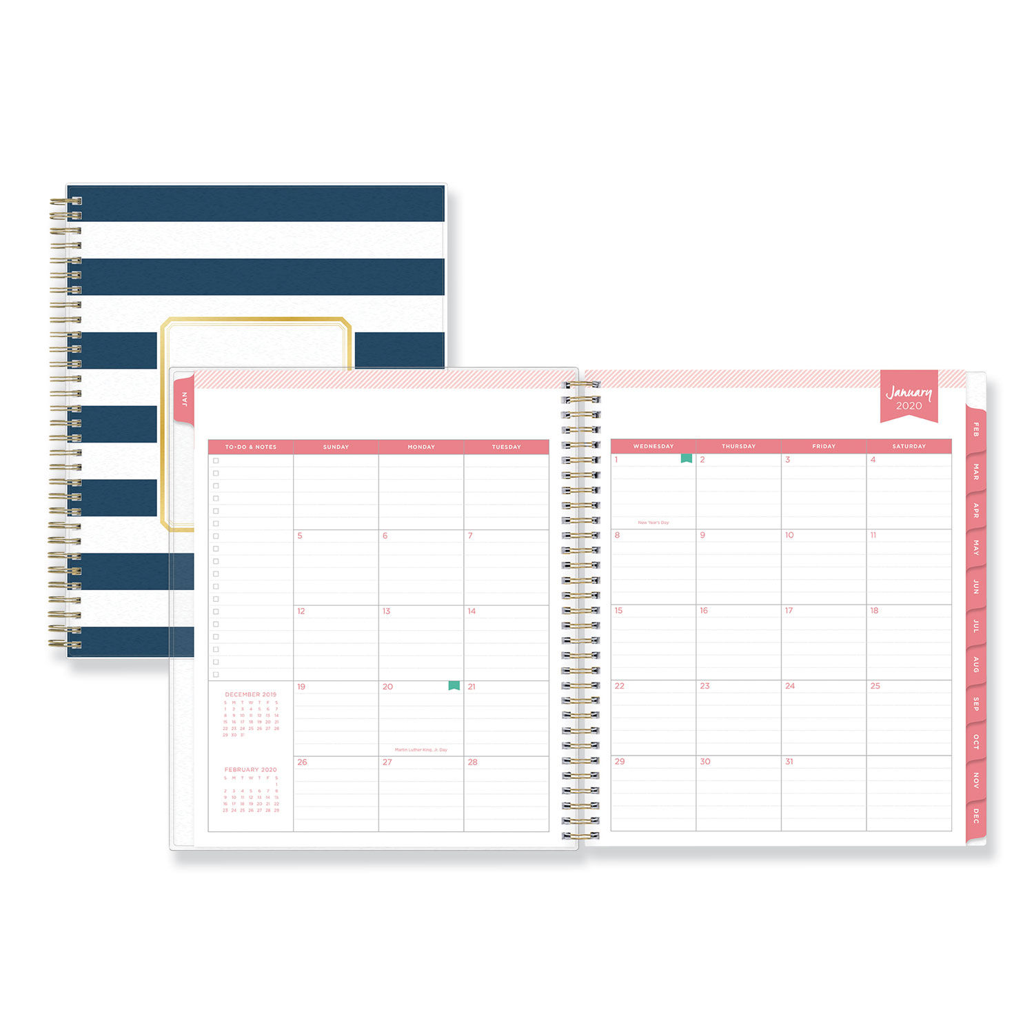 image regarding Daily Designer identify Working day Designer Day-to-day/Month-to-month Planner, 10 x 8, Military/White, 2020