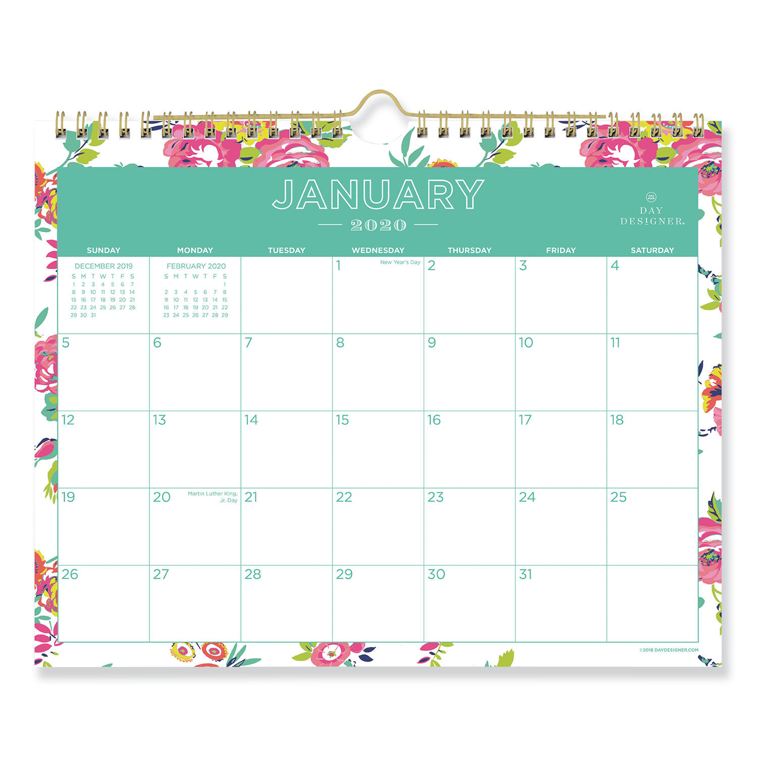 Twin-Wire Binding 15 x 12 Blue Sky 2020 Monthly Wall Calendar Classic Red