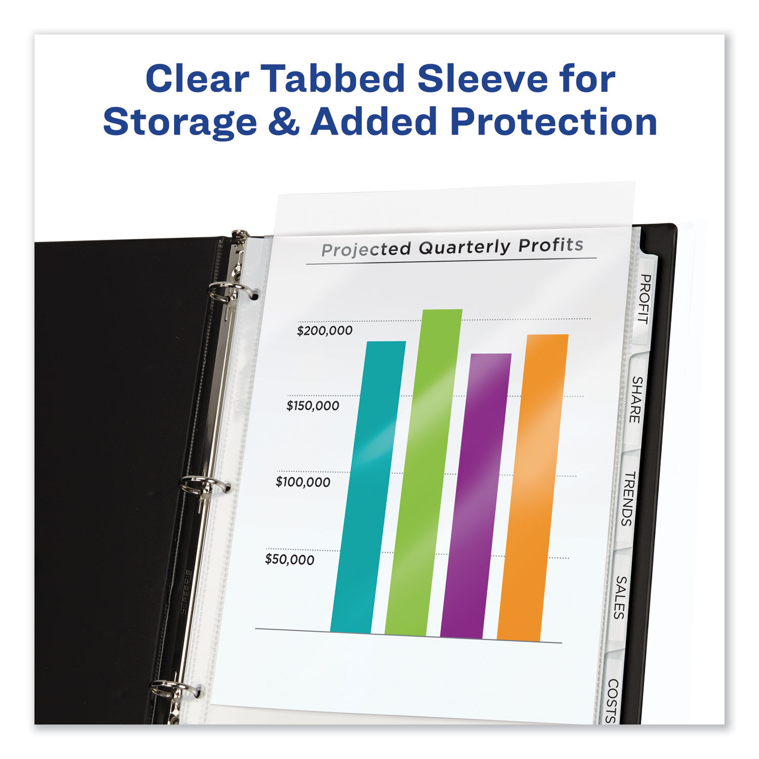 Avery Index Maker Clear Pocket Clear Label Dividers 8-Tab