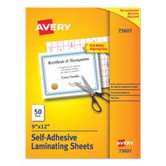 Avery® Clear Self-Adhesive Laminating Sheets Thumbnail