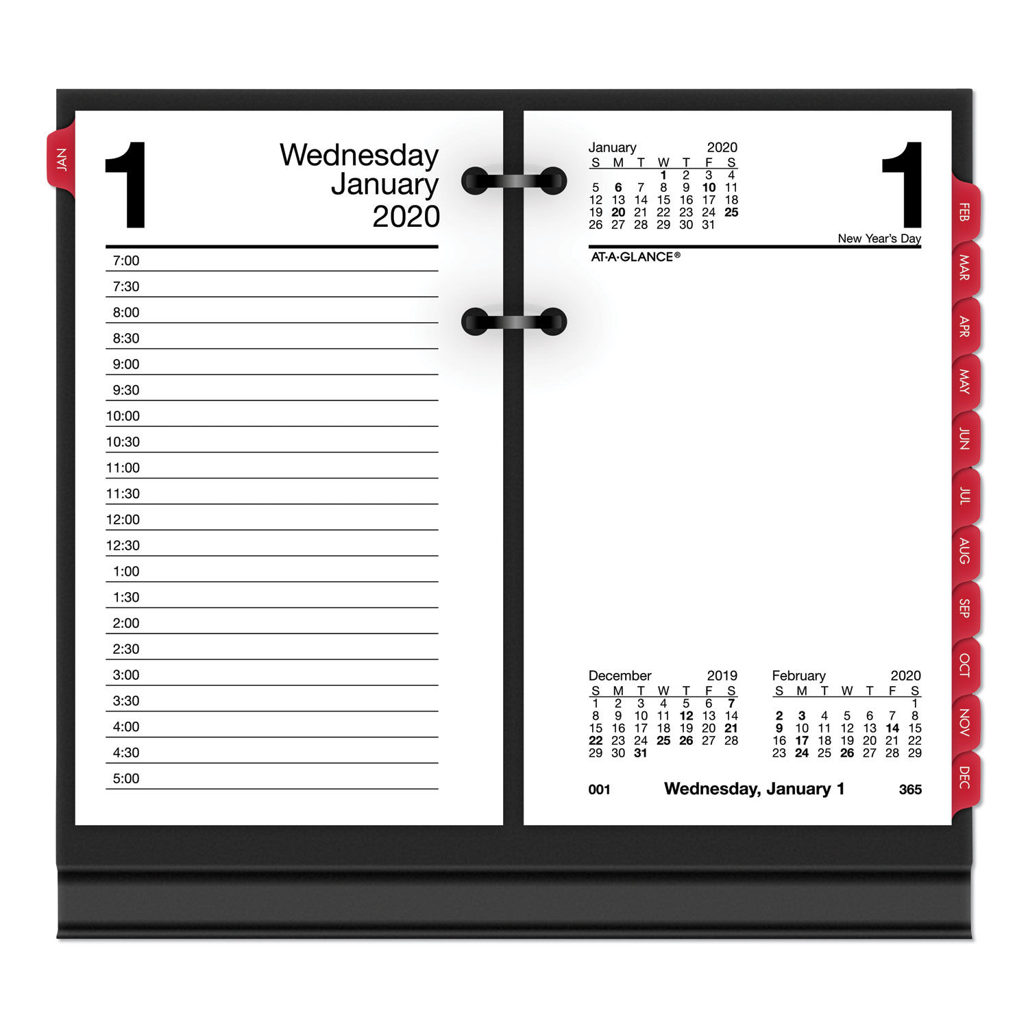 At-A-Glance Burkhart/'s Day Counter Monthly Snap in Tabs Monthly Tabs Only