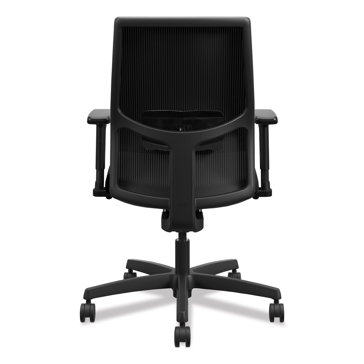 Ignition 2 0 4 Way Stretch Low Back Mesh Task Chair Supports Up To 300 Lbs Black Seat Back Black Base