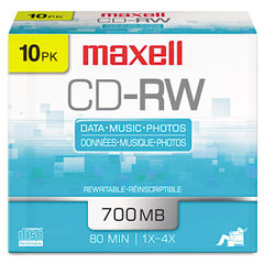 Maxell® CD-RW Rewritable Disc Thumbnail