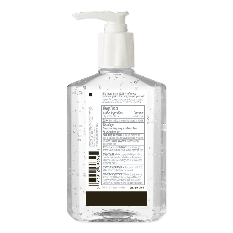 Advanced Hand Sanitizer Refreshing Gel, Clean Scent, 8 oz Pump Bottle