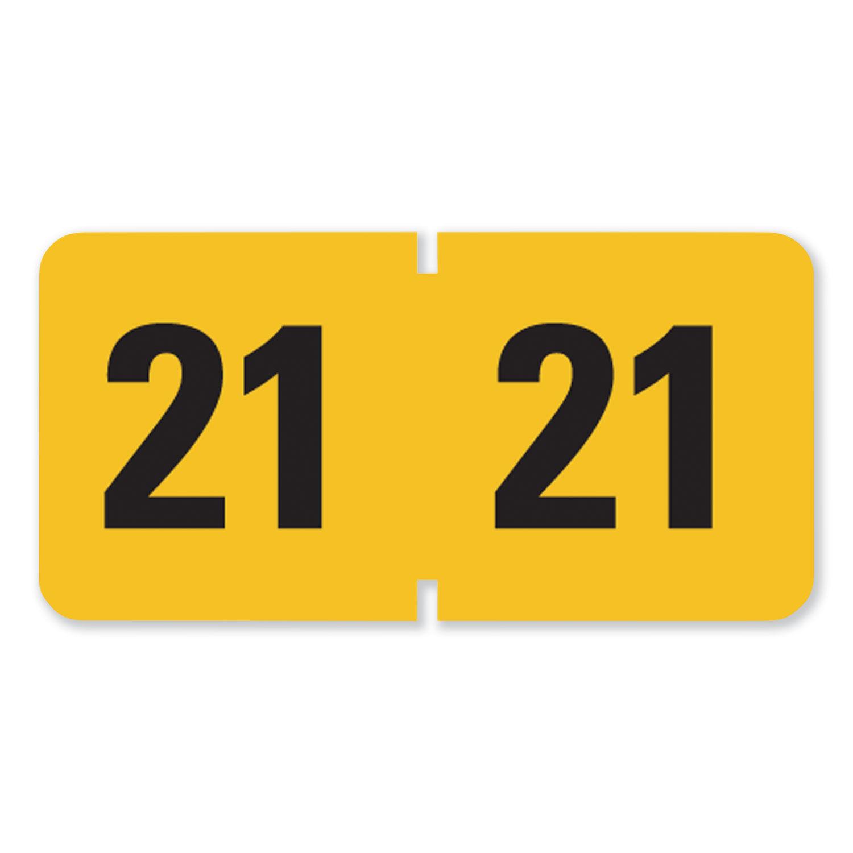 Smead 67423 Single Digit End Tab Labels Number 3 Purple 250//Roll