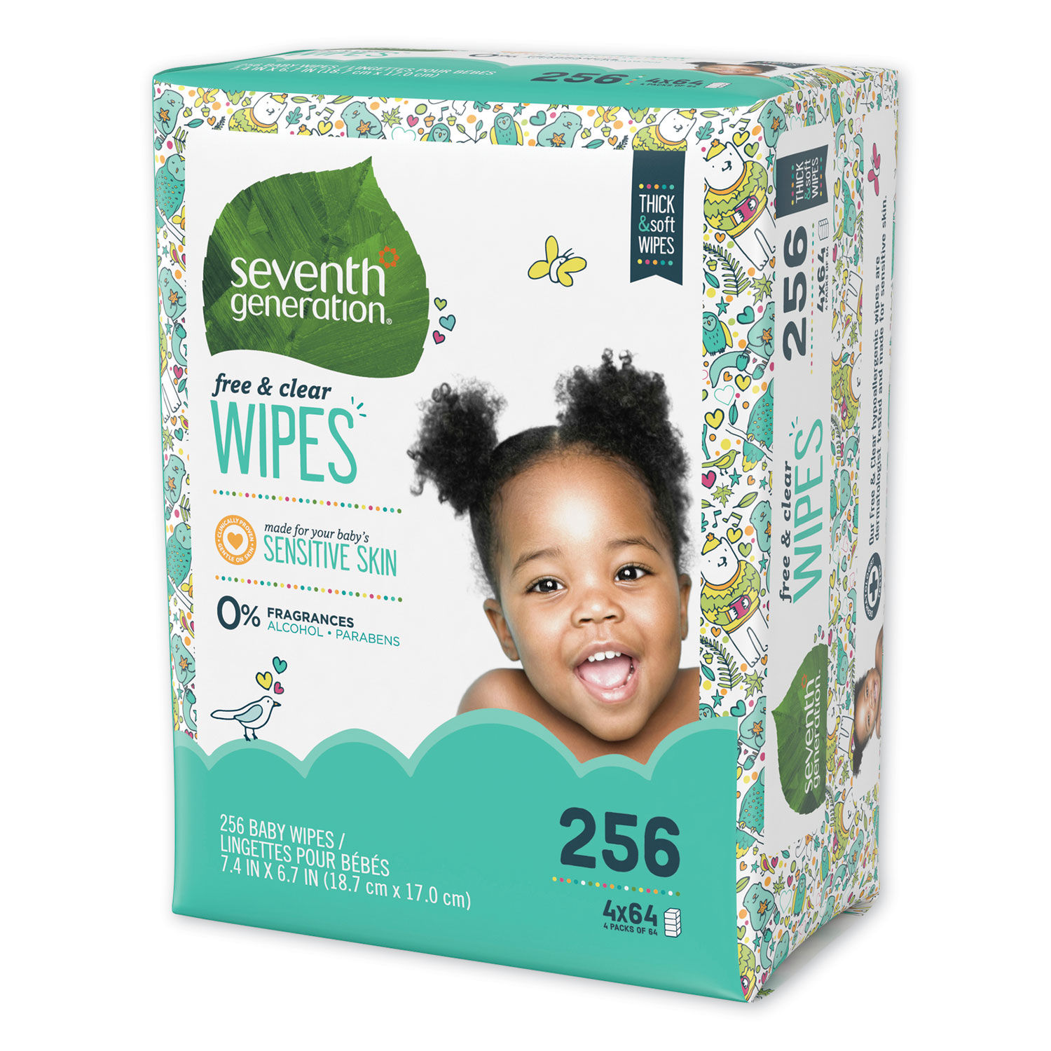 Clear Baby Wipes 64 ea Seventh Generation Free