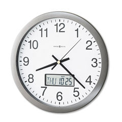 Howard Miller® Chronicle Wall Clock with LCD Inset Thumbnail