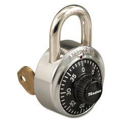 Master Lock® Combination Padlock with Key Cylinder Thumbnail