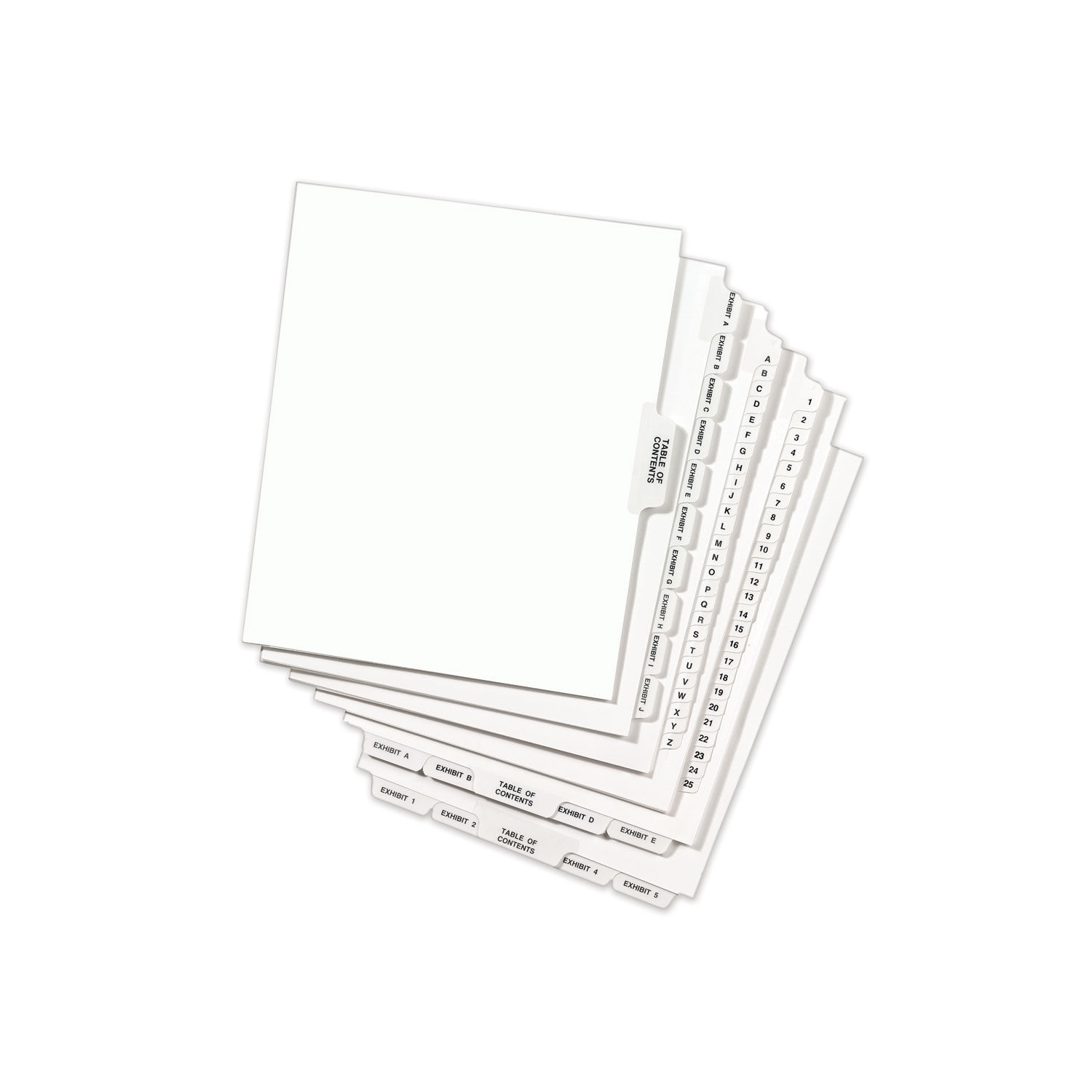 Avery Bottom Tab Legal Dividers Exhibit D 25//Pack White Divider//Tab