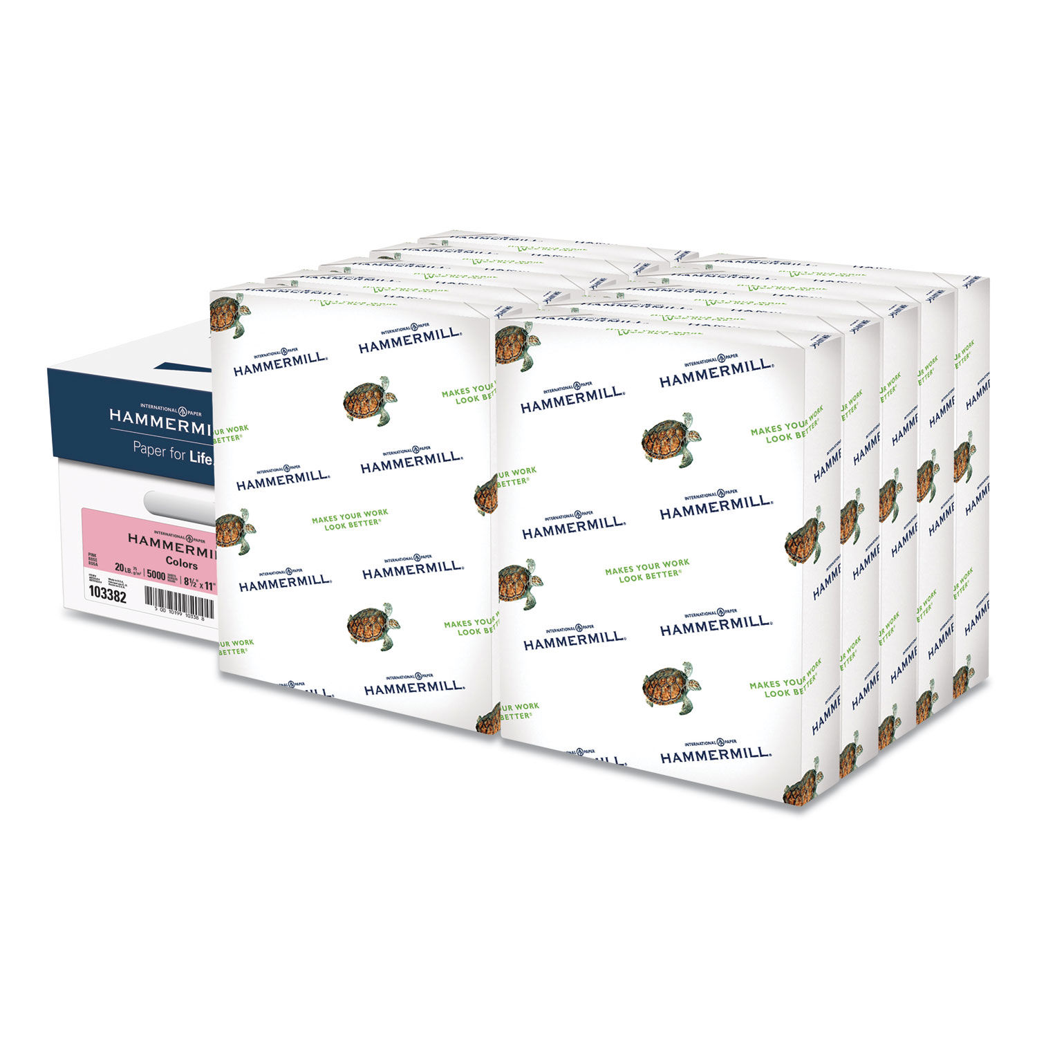 Hammermill 103382 Recycled Colored Paper Pink 8-1//2 x 11 500 Sheets//Ream 20lb