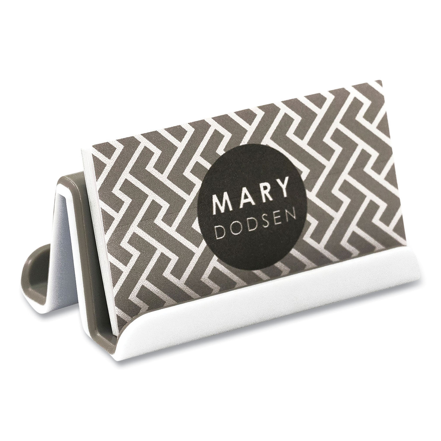 Fusion Double Sided Business Card Holder by Advantus AVT20 ...