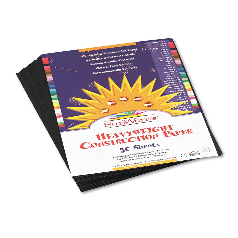 100 Sheets 9 x 12 Yellow-Orange SunWorks Construction Paper