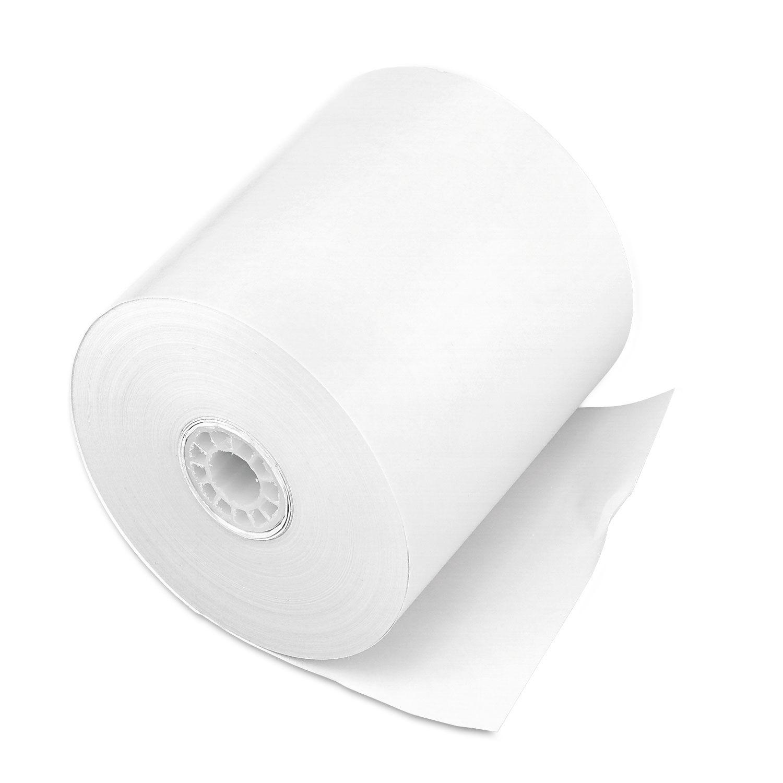 12//PK White 2-1//4x150 Adding Machine Rolls