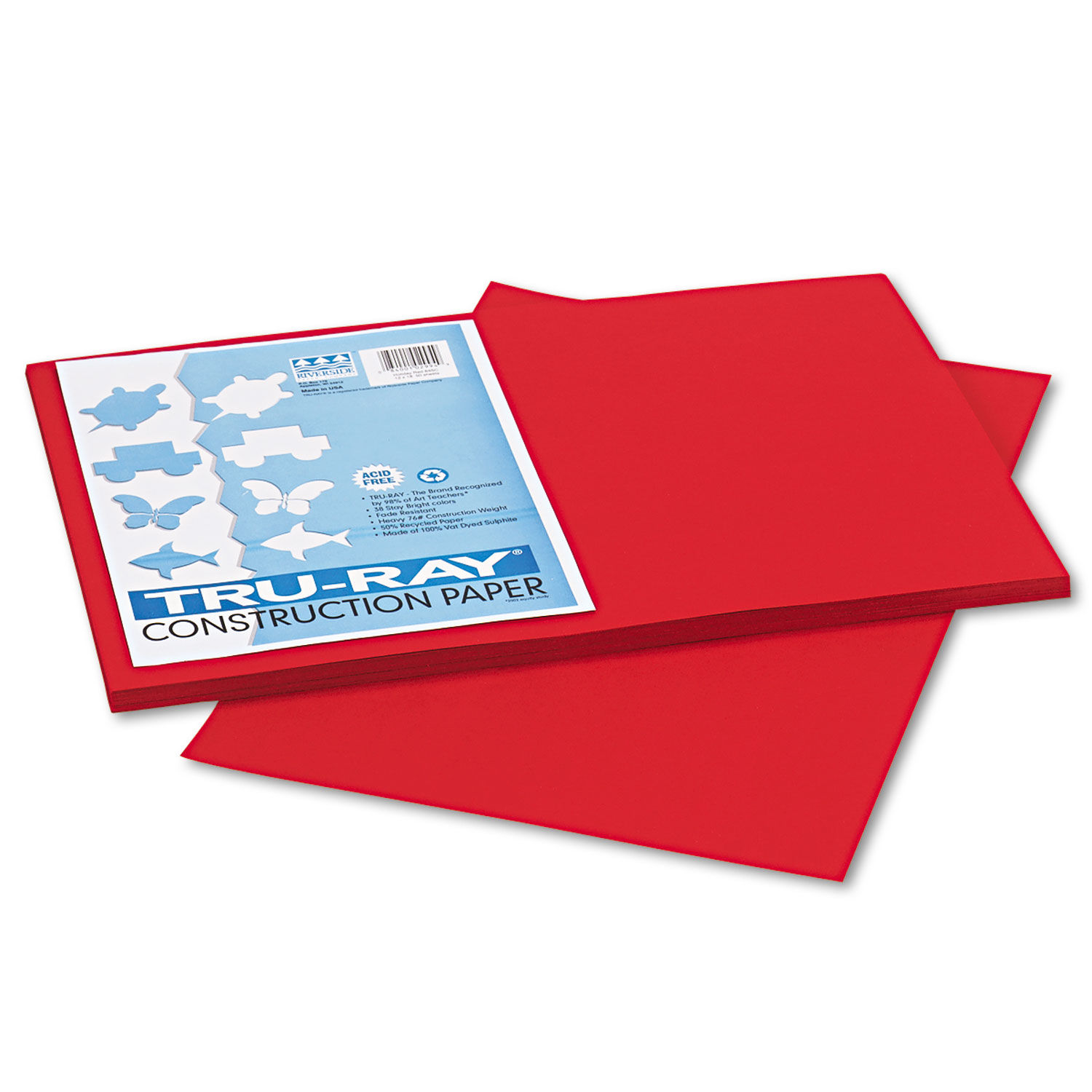 12 x 18 Pacon Tru-Ray Construction Paper 2 Packs of 50 Sheets Festive Green